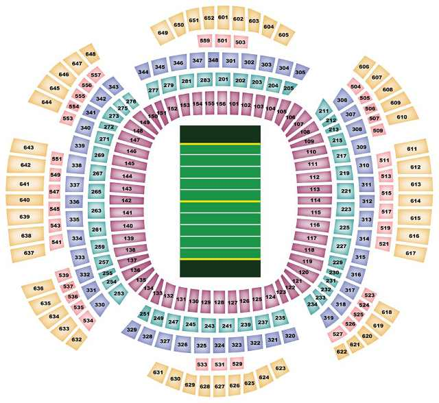 New Orleans Saints Seating Chart for Mercedes-Benz Superdome